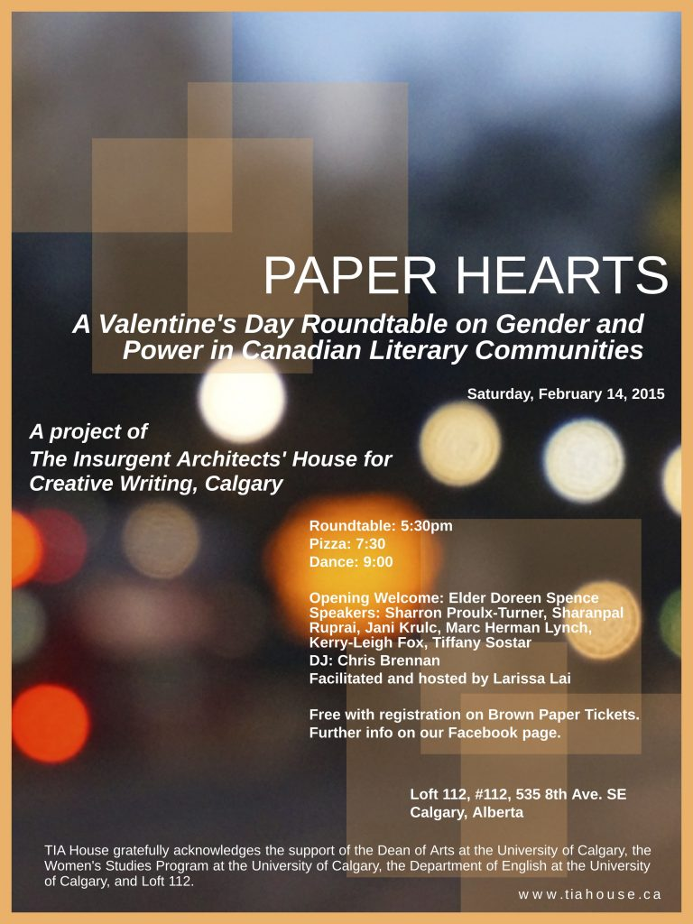 Paper Hearts Roundtable event poster