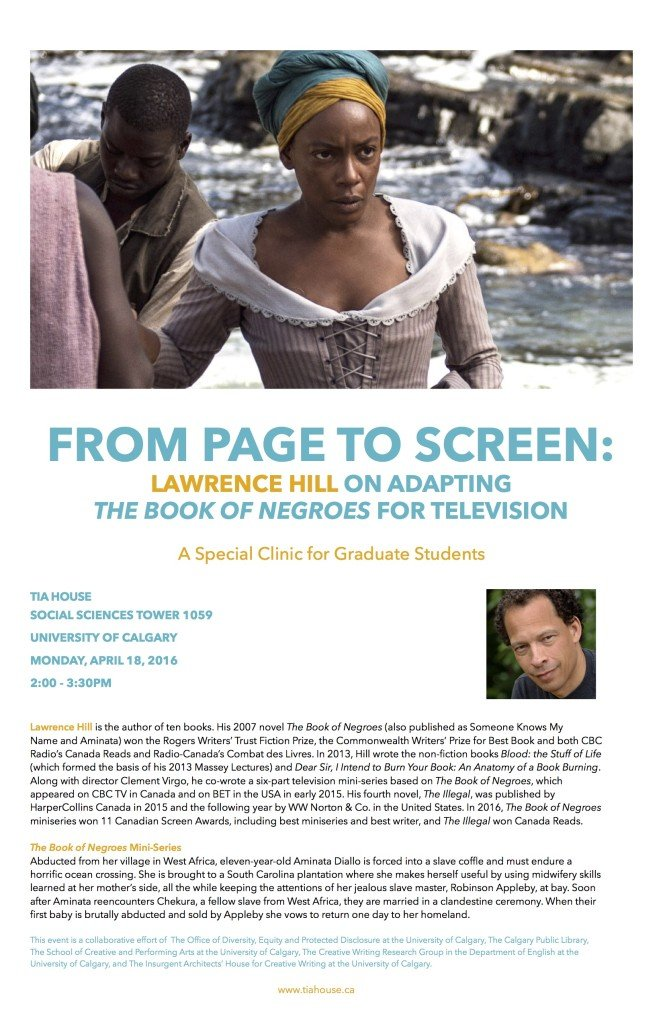 Lawrence Hill Poster Page to Screen